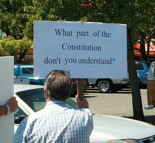 Coos Bay Tea Party July 4 2009
