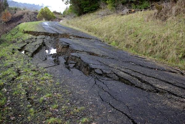 road slide on Dement Creek Road