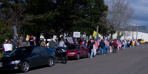 Tax Day Tea Party - Coos Bay, Oregon