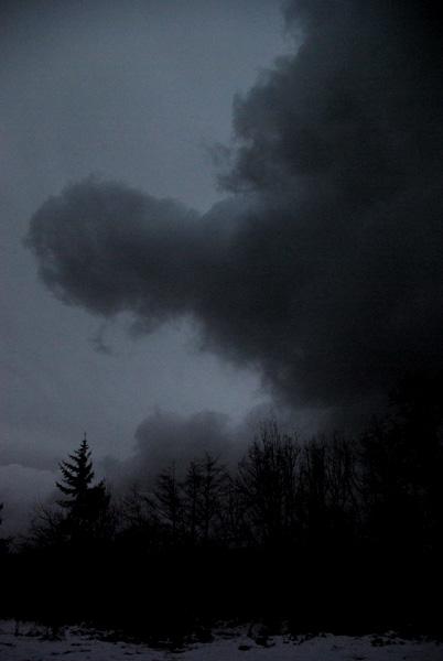 very dark cloud